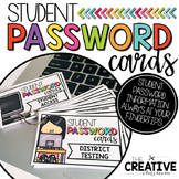Student Password Cards {EDITABLE}