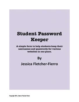 Student Password Keeper