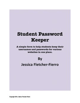Student Password Keeper