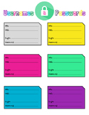 Student Password Keeper - Color Boxes