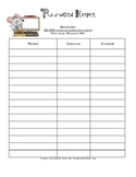 Student Password Keeper for Planners and Biders