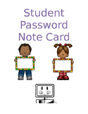 Student Password Notecards