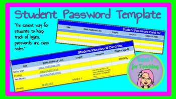 Student Password Template