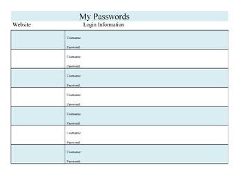 Student Passwords Keeper