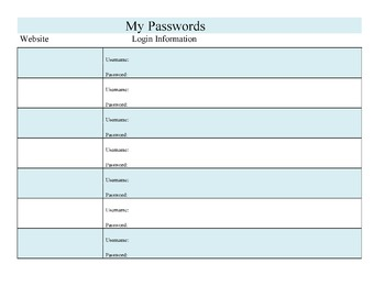 Student Passwords Keeper