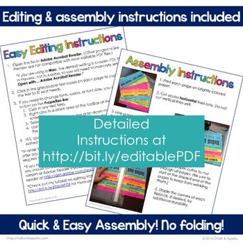 Student Passwords & Technology Info Flip Book (Editable Flipbook)