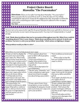 Cooperative Classroom Choice Board! PRO STUDENT CHOICE!