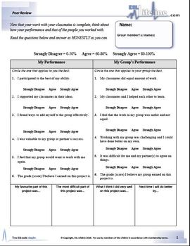 Student Peer Review Handout