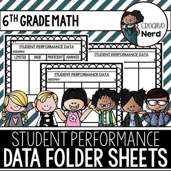 Student Performance Data Folder Sheets (6th Grade Math) (Freebie)