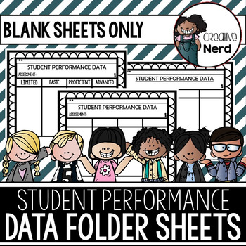 Student Performance Data Folder Sheets (Blank)(Freebie)