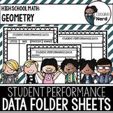 Student Performance Data Folder Sheets (High School Geomet