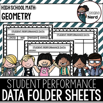Student Performance Data Folder Sheets (High School Geomet