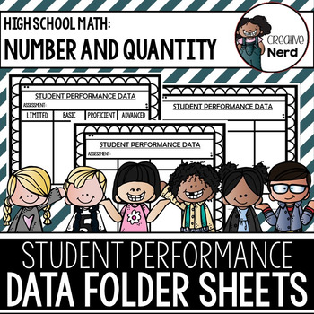 Student Performance Data Folder Sheets (High School Number and Quantity) Freebie