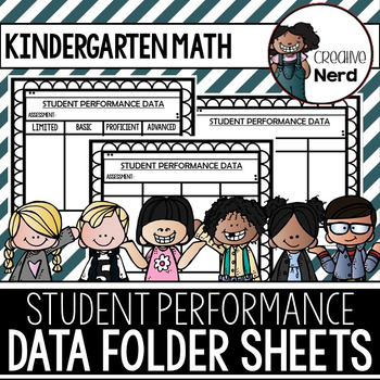 Student Performance Data Folder Sheets (Kindergarten Math)