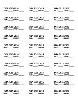 Student Permanent DRA Score labels