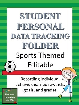 Student Personal Data Tracking Folder - Sports Themed