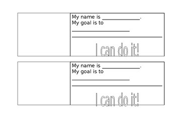 Student Personal Goals for their desk