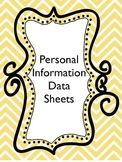 Student Personal Information Data Sheets