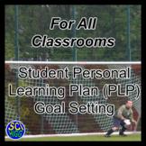 Student Personal Learning Plan PLP Goal Setting Worksheet