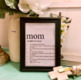 Student Personalized Mother's Day Dictionary Definition Poster