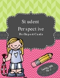 Student Perspective (for Report Cards)