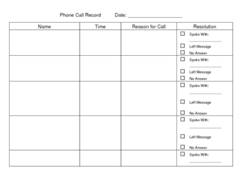 Student Phone Call Record