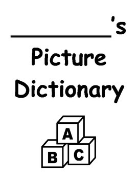 Student Picture DICTIONARY, Writing, Spelling, Speech Therapy, Vocabulary