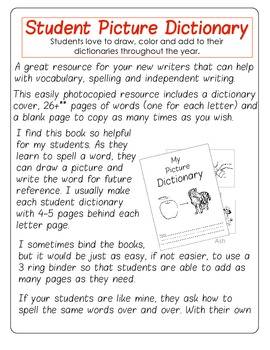 Student Picture Dictionary