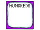 Student Place Value Sets. Individual. Ones Tens Hundreds T