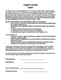 Student Plagiarism Contract