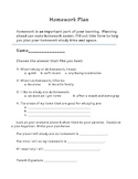 Student Plan for Homework