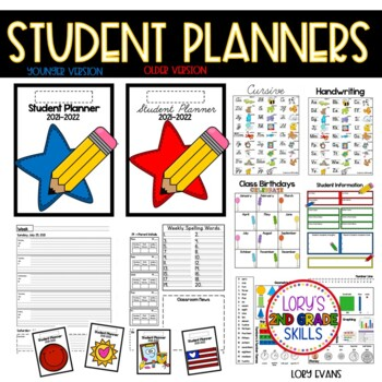 Student Planner - 2020  Older and Primary Version
