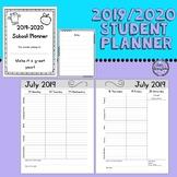 Student Planner 2019-20/Student Agenda - Simple Format/Ink Saver