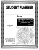 Back to School Student Planner