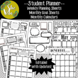 Student Planner- Calendars, Weekly Planning Sheets, Goal Sheets - Doodle Style!