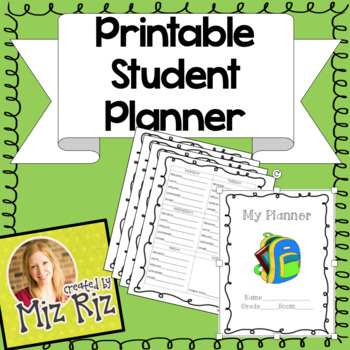 Student Planner!  {Download, bind, and go!}