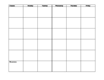 Student Planner For a Week