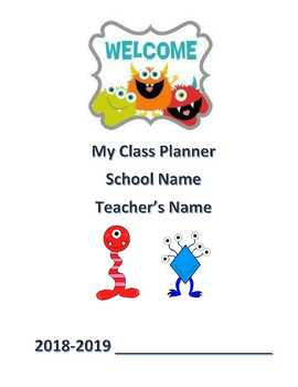 """Student Planner """"Monster Theme"""" (Editable) Any Year"""