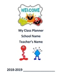 "Student Planner ""Monster Theme"" (Editable) Any Year"