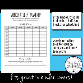 Student Planner Pages Bundle #1