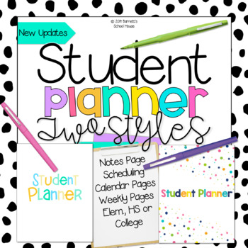 Student Planner Pages Pack {EDITABLE}