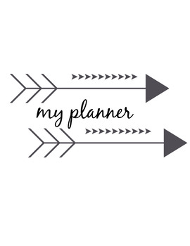 Printable Student Planner and Agenda
