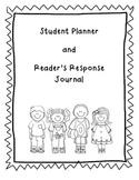 Student Planner / Reader's Response Journal Combo