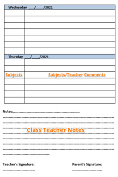 Student Planner Template - Student Diary Template