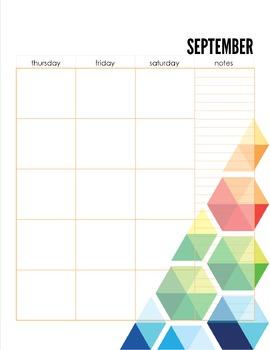 Student Planner - Undated (hexagon graphic)