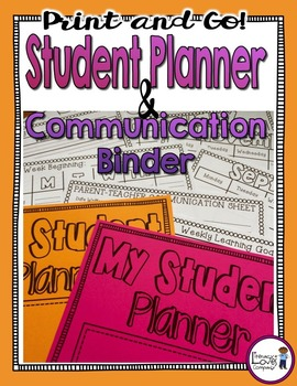 Student Planner and Communication Binder