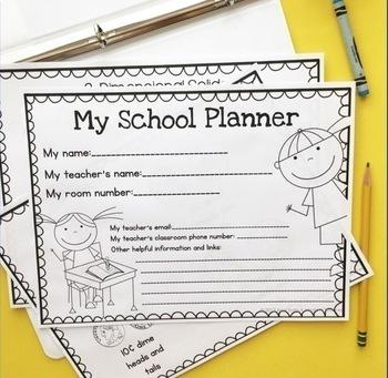 first grade student calendar planner binder by a modern teacher tpt