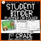 First Grade Student Calendar Planner Binder