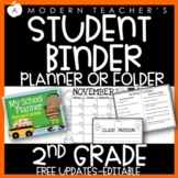 Second Grade Calendar Student Binder Planner