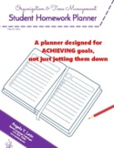 Homework Planner for Students (self-monitoring, time manag